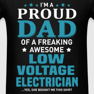 Low Voltage Electrician's Dad - Men's T-Shirt