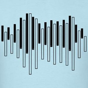 Piano Sound Wave T-Shirts - Men's T-Shirt