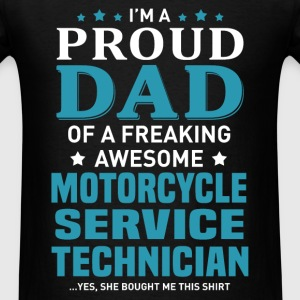 Motorcycle Service Technician's Dad - Men's T-Shirt