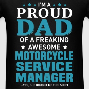 Motorcycle Service Manager's Dad - Men's T-Shirt