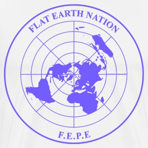 The Flat Earth Nation Emblem. Blue version - Men's Premium T-Shirt