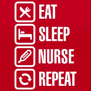 Eat Sleep Nurse Repeat T-Shirts - Women's V-Neck T-Shirt