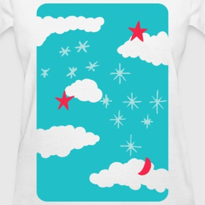 artsy sky digital drawing T-Shirts - Women's T-Shirt