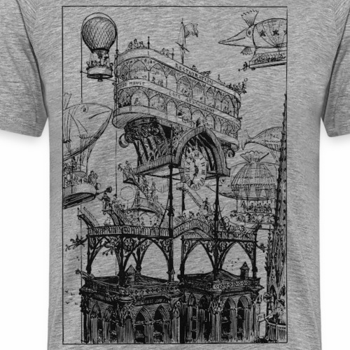 Steampunk Paris Flying