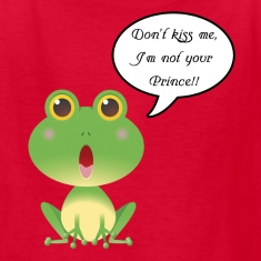 Kid's Tee - Don't Kiss Me, I'm Not Your Prince.