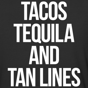 Tequila And Tan Lines Funny Quote T-Shirts - Baseball T-Shirt
