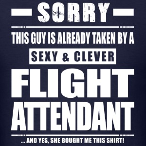 Guy Taken - Flight Attendant Shirt Gift T-Shirts - Men's T-Shirt