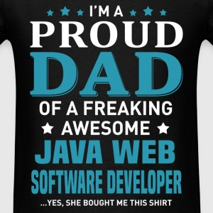 Java Web Software Developer's Dad - Men's T-Shirt