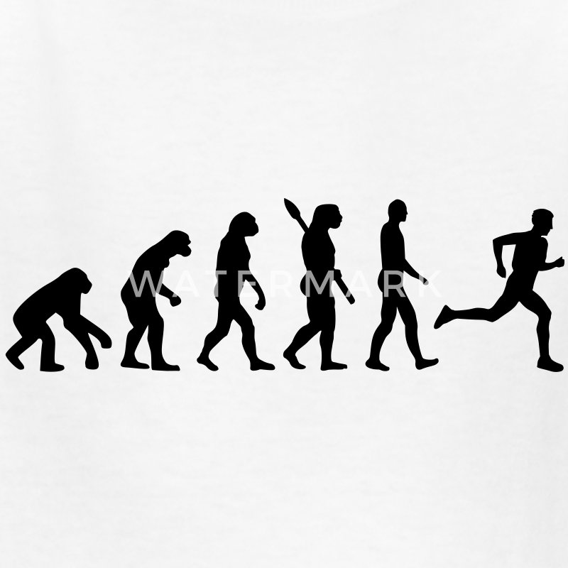 Evolution running Kids' Shirts - Kids' T-Shirt
