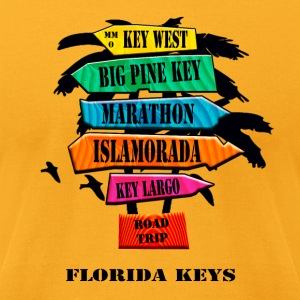 Florida Keys Road Sign - Men's T-Shirt by American Apparel