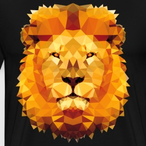Low-poly lion tshirt - Men's Premium T-Shirt