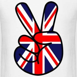 Peace Sign (Union Jack) - Men's T-Shirt