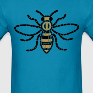 Manchester Bee Mosaic - Men's T-Shirt