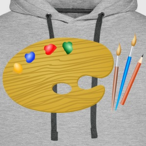 Paint Brush - Men's Premium Hoodie