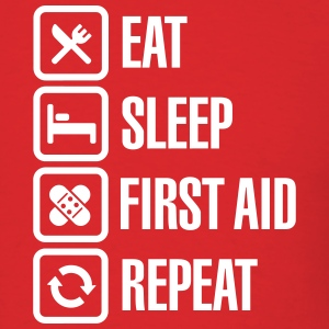 Eat Sleep First Aid Repeat T-shirts - T-shirt pour hommes