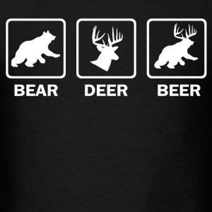 parody bear deer beer - Men's T-Shirt