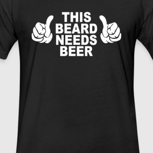 Beard t shirt funny - Fitted Cotton/Poly T-Shirt by Next Level