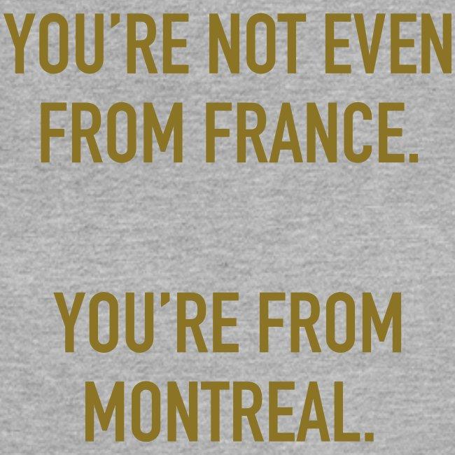 Women's GOLD VINYL Montreal Muscle Tee