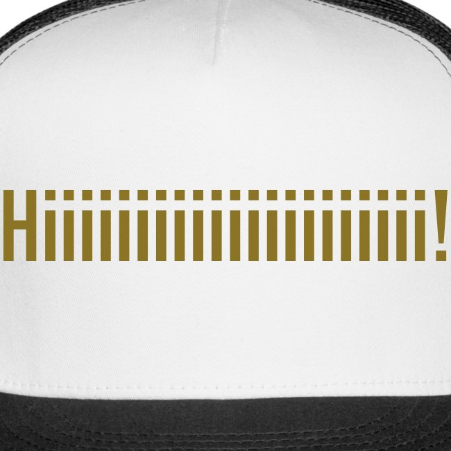 GOLD VINYL Van Buren Trucker Hat