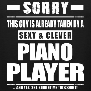 Guy Taken - Piano Player Shirt Gift Sportswear - Men's Premium Tank
