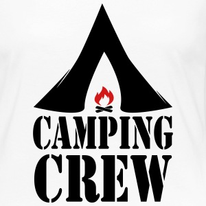 Camping Crew Camp Tent Fire Campfire 2c Long Sleeve Shirts - Women's Premium Long Sleeve T-Shirt