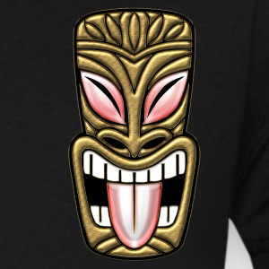 Laughing Gold Tiki - Men's V-Neck T-Shirt by Canvas