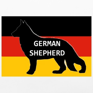 german shepherd name silhouette on flag - Pillowcase
