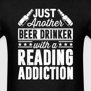 Beer & Reading Addiction T-Shirts - Men's T-Shirt