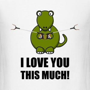 Dinosaur Love You This Much - Men's T-Shirt