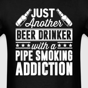 Beer & Pipe Smoking Addiction T-Shirts - Men's T-Shirt