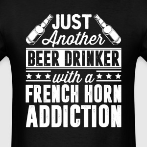 Beer & French Horn Addiction T-Shirts - Men's T-Shirt