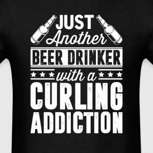 Beer & Curling Addiction T-Shirts - Men's T-Shirt