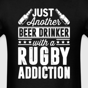 Beer & Rugby Addiction T-Shirts - Men's T-Shirt