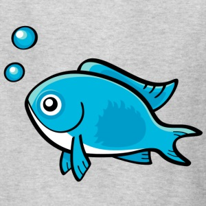 Little Blue Fish - Kids' T-Shirt