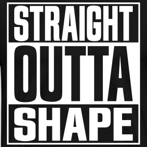 Straight Outta Shape Black - Men's Premium T-Shirt