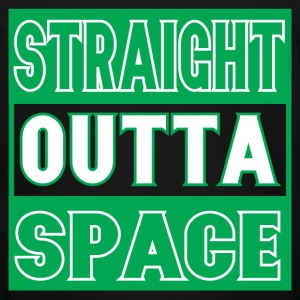 Straight Outta Space Tee - Men's Tall T-Shirt