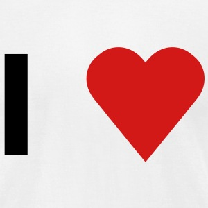 I heart / I love - Men's T-Shirt by American Apparel