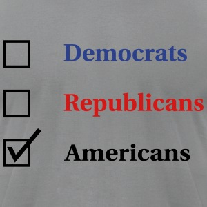 Election Ballot - Americans T-Shirts - Men's T-Shirt by American Apparel