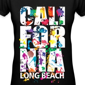 Long Beach California - Women's V-Neck T-Shirt
