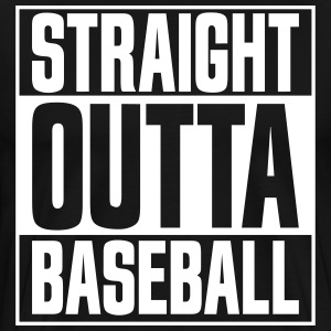 Straight Outta Baseball Black - Men's Premium T-Shirt
