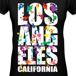 Los Angeles California - Women's V-Neck T-Shirt