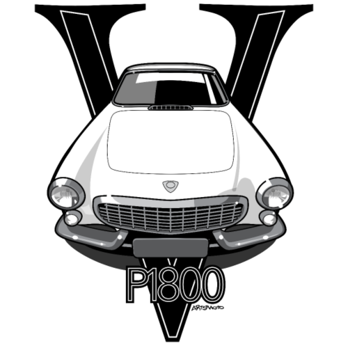 Swedish P1800 Vintage Sports Car Retro Print
