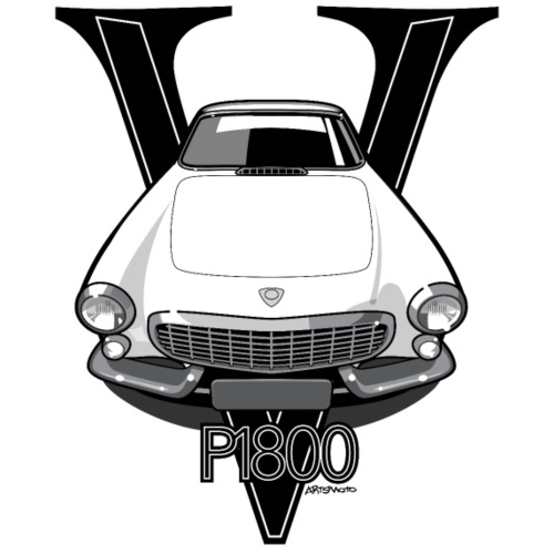Swedish P1800 Vintage Sports Car Retro Print
