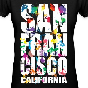 San Francisco California - Women's V-Neck T-Shirt