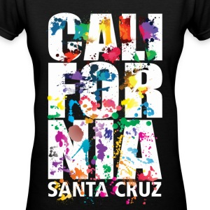 Santa Cruz California - Women's V-Neck T-Shirt