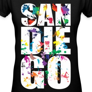 San Diego California - Women's V-Neck T-Shirt