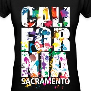 Sacramento California  - Women's V-Neck T-Shirt