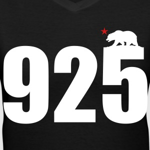 Area Code 925 - Women's V-Neck T-Shirt