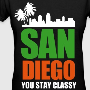 San Diego YOU STAY CLASSY - Women's V-Neck T-Shirt