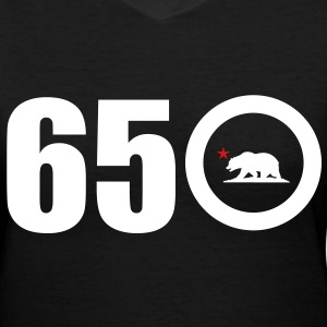 Area Code 650 - Women's V-Neck T-Shirt